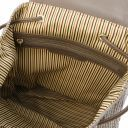 TL KeyLuck Woven printed leather backpack Темный серо-коричневый TL141886