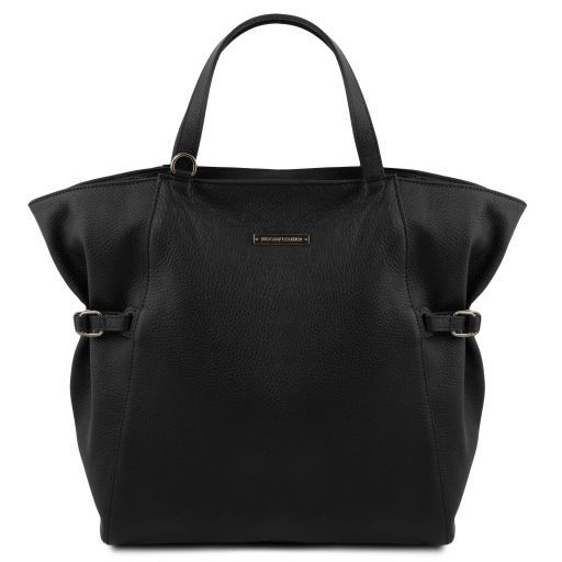 TL Bag Soft leather shopping bag Black TL141883