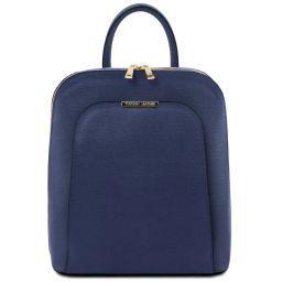 TL Bag Zaino donna in pelle Saffiano Blu scuro TL141631