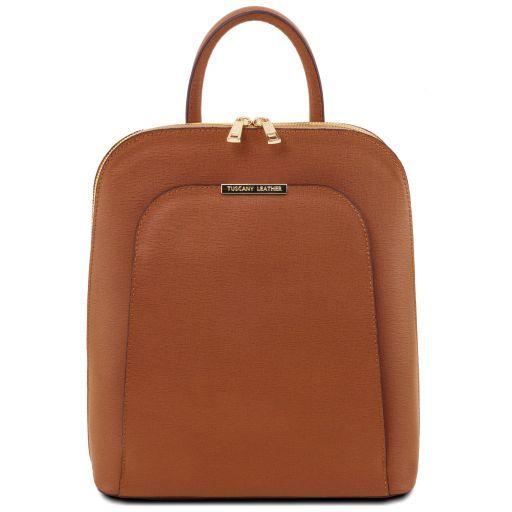 TL Bag Zaino donna in pelle Saffiano Cognac TL141631