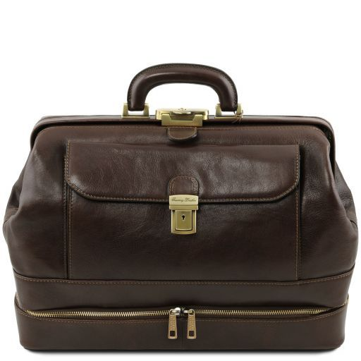 Giotto Exclusive double-bottom leather doctor bag Dark Brown TL141297