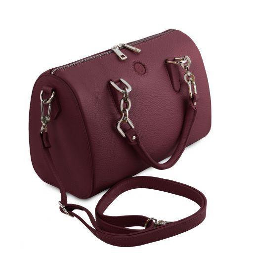 Narciso Leather duffle bag Bordeaux TL141875