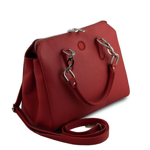 Lilia Leather handbag Красный TL141876