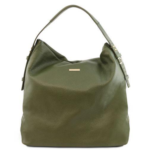 TL Bag Bolso hobo en piel suave Verde Oliva TL141884