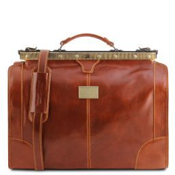 Madrid Gladstone Leather Bag - Small size Honey TL1023