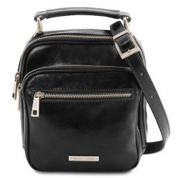 Paul Leather Crossbody Bag Black TL141916