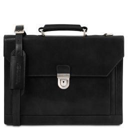 Cremona Leather briefcase 3 compartments Черный TL141732
