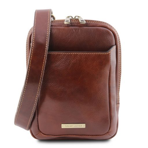 Mark Leather Crossbody Bag Brown TL141914