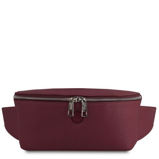 Erica Soft leather fanny pack Bordeaux TL141877