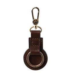 Porte clé en cuir Marron foncé TL141922