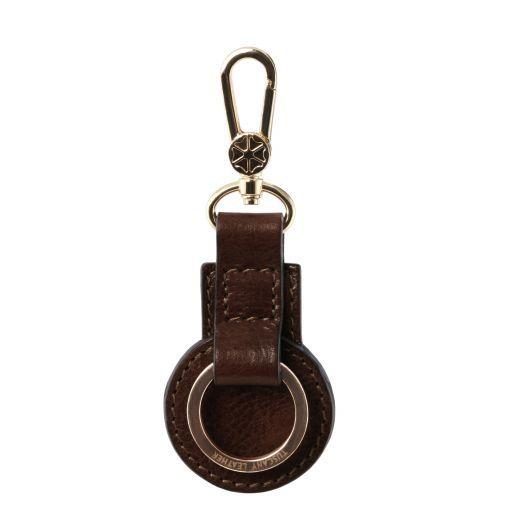 Porta llaves en piel Marrón oscuro TL141922
