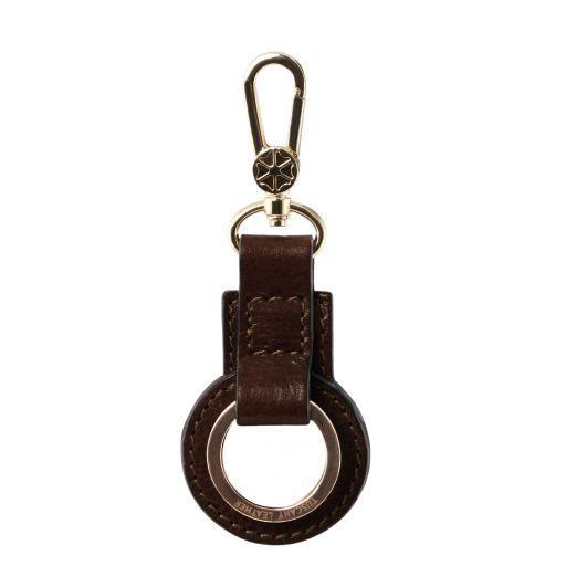 Porte clé en cuir Marron foncé TL141923