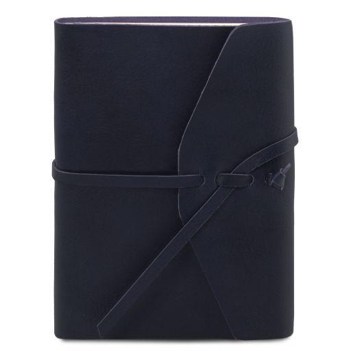 Carnet de voyage en cuir Bleu foncé TL141925