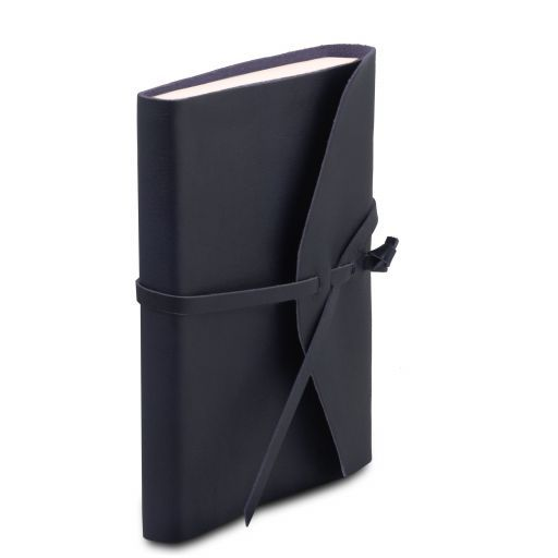 Leather travel diary Dark Blue TL141925