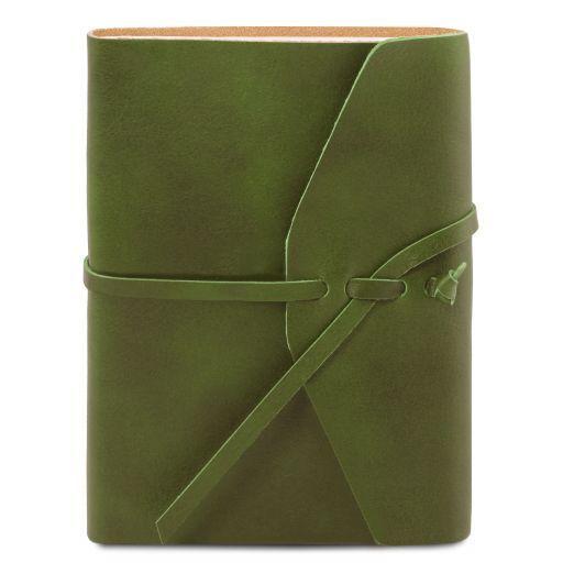 Diario di viaggio in pelle Verde TL141925
