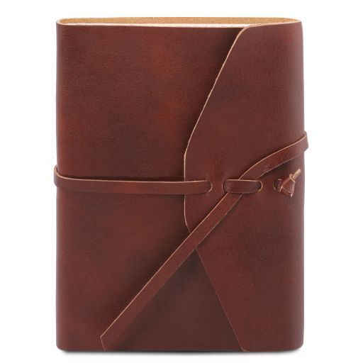 Leather travel diary Brown TL141925