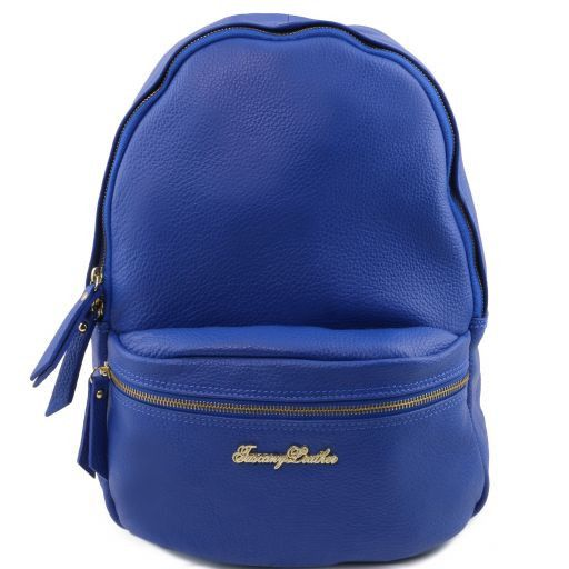 TL Bag Zaino donna in pelle morbida Blu TL141370