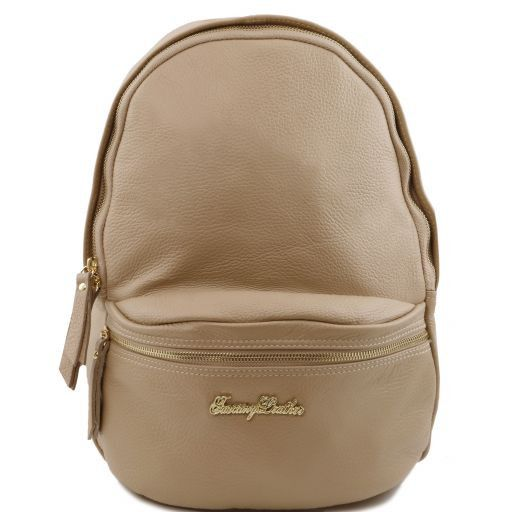 TL Bag Soft leather backpack for women Light Taupe TL141370