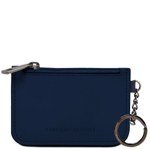 Leather key holder Темно-синий TL141671