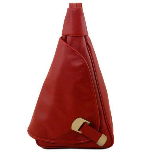 Hanoi Rucksack Tropfendesign aus Leder Rot TL140966
