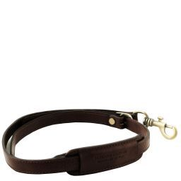 Bandolera ajustable en piel para maletínes Marrón oscuro TL141931
