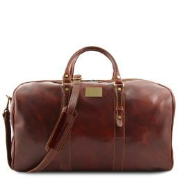Francoforte Exclusive Leather Weekender Travel Bag - Large size Brown FC140860