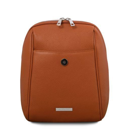 TL Bag Soft leather backpack Cognac TL141905