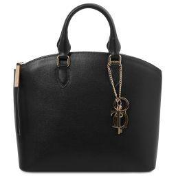 TL KeyLuck Saffiano leather tote Black TL141261
