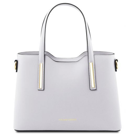Olimpia Leather tote - Small size White TL141521