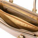 Aura Leather handbag Champagne TL141434