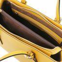 Aura Leather handbag Mustard TL141434