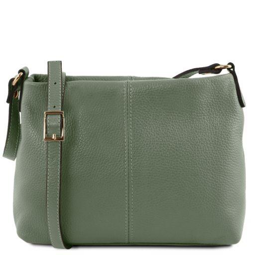 TL Bag Soft leather shoulder bag Mint Green TL141720
