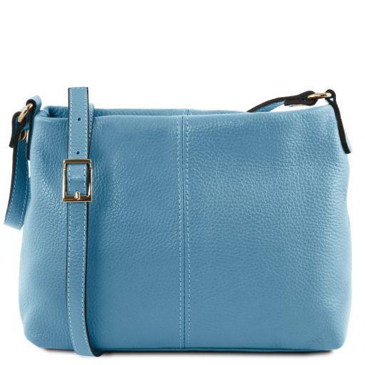 TL Bag Sac bandoulière en cuir souple Bleu clair TL141720