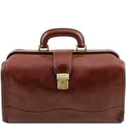 Raffaello Doctor leather bag Brown TL141852