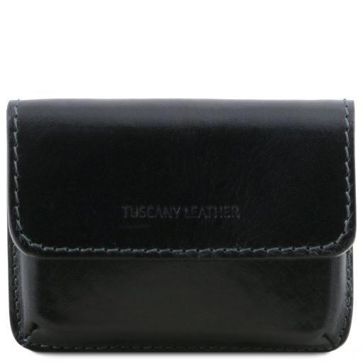 Porta tarjetas de visita en piel Negro TL141378