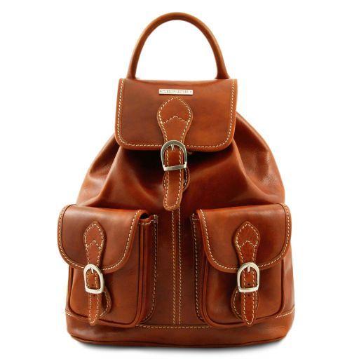 Tokyo Leather Backpack Honey TL9035
