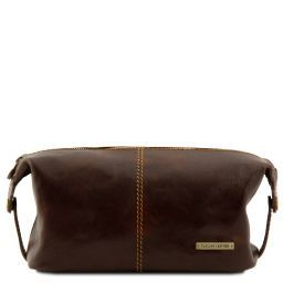 Roxy Кожаная косметичка Темно-коричневый TL140349
