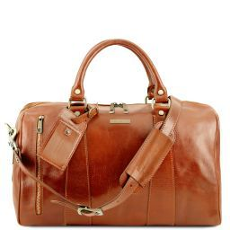 TL Voyager Travel leather duffle bag - Small size Honey TL141216