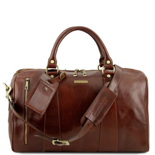 TL Voyager Travel leather duffle bag - Small size Brown TL141216