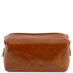 Smarty Beauty case en piel - Modelo pequeño Miel TL141220