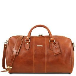 Lisbona Travel leather duffle bag - Large size Honey TL141657