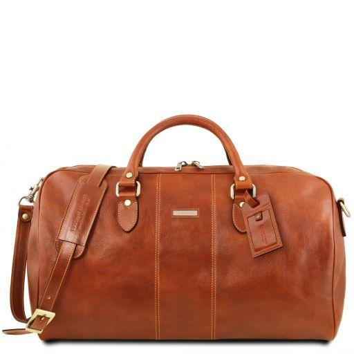 Lisbona Travel leather duffle bag - Large size Honey TL141657