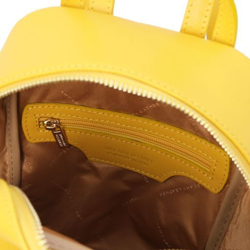 TL Bag Zaino piccolo in pelle Saffiano da donna Giallo TL141701