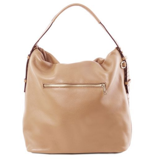 TL Bag Soft leather hobo bag Champagne TL141884
