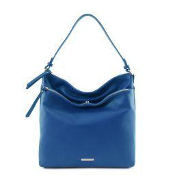 TL Bag Borsa a spalla in pelle morbida Blu TL141874