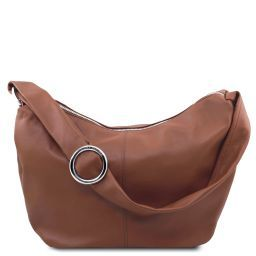 Yvette Borsa hobo in pelle morbida Cannella TL140900