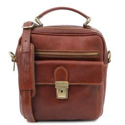 Brian Leather shoulder bag for man Коричневый TL141978