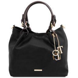 TL KeyLuck Soft leather shopping bag Черный TL141940