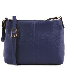 TL Bag Soft leather shoulder bag Dark Blue TL141720