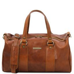 Lucrezia Leather maxi duffle bag Мед TL141977